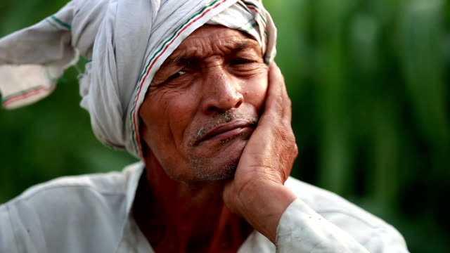 elderly farmer man lost in thought - distraught stock videos & royalty-free footage
