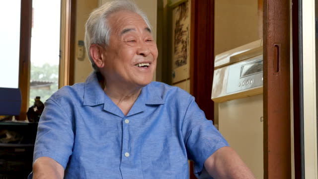 elderly man staring into empty space - korean ethnicity stock videos & royalty-free footage