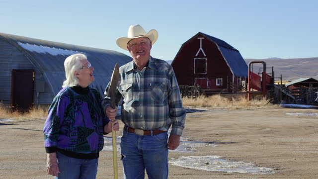 elderly ranching couple - gunnison stock videos & royalty-free footage
