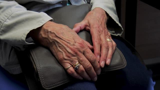 elderly womans hands - nursing home stock videos & royalty-free footage