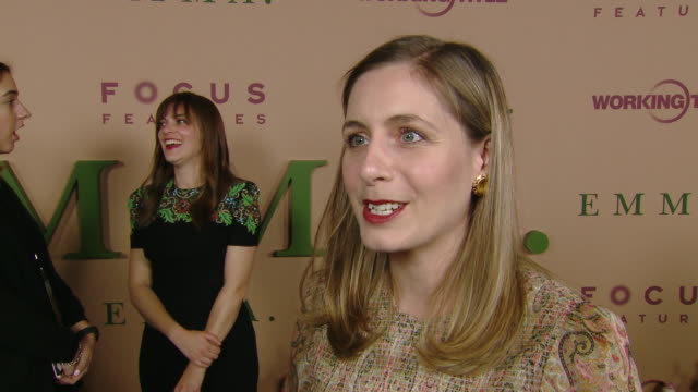 """vidéos et rushes de eleanor catton at focus features presents """"emma."""" los angeles premiere at dga theater on february 18, 2020 in los angeles, california. - nbcuniversal"""
