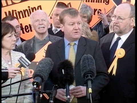 Blair announces 5 May as Election Day Leeds Poster of Charles Kennedy with message 'The Real Alternative' on side of vehicle unveiled to cheers CS...