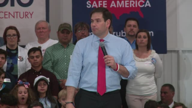 struggling Republican candidate Marco Rubio campaigns in Sanford Florida Florida is a 'must win for the Senator backed by the GOP establishment