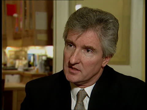 election and recession london cms john maples mp intvwd sof recovery under way - itv weekend evening news stock-videos und b-roll-filmmaterial