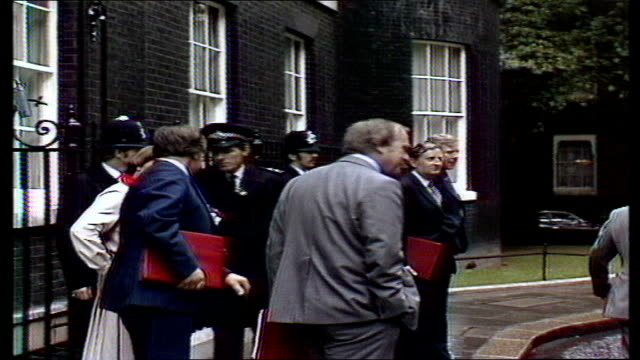 election date england london no10 downing street ms ministers leave no10 stand outside merlyn rees stanley orme dr david owen shirley williams peter... - 1978 stock videos & royalty-free footage