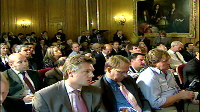 election decision not based on polls says gordon brown; england: london: 10 downing street: int gordon brown mp walks up to podium and greets waiting... - take that stock videos & royalty-free footage