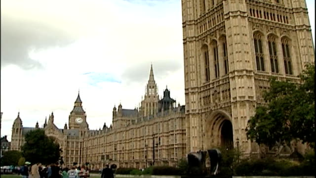election decision not based on polls says gordon brown; houses of parliament: ext houses of parliament exterior with big ben in background london:... - gordon brown stock-videos und b-roll-filmmaterial