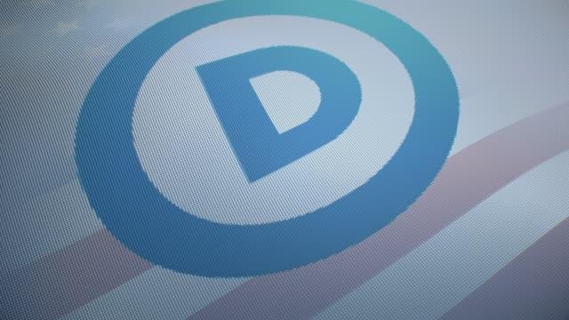 米国の選挙民主党米国の背景 - 米民主党点の映像素材/bロール