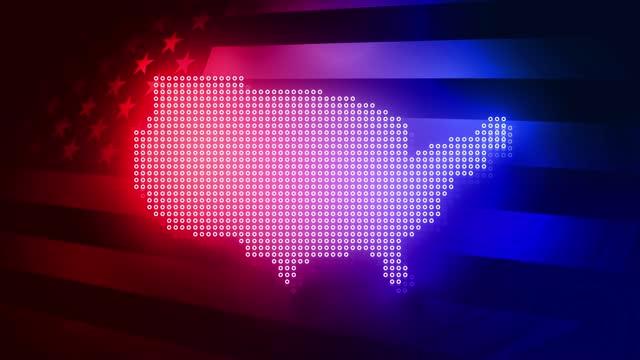 wahl in den vereinigten staaten und us-flagge. united states elections 2020 animationen pack stock video. - us president stock-videos und b-roll-filmmaterial