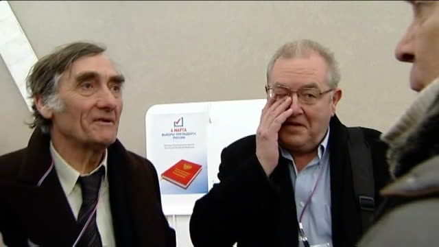 election monitors find flaws in presidential election of vladimir putin group of british election observers chatting - presidential election stock videos and b-roll footage