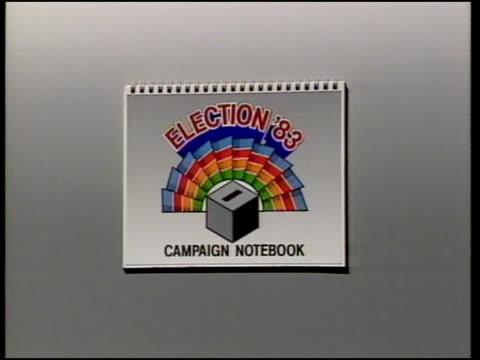 election notebook; graphic: - アラステア・バーネット点の映像素材/bロール