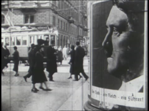 election posters and voter ballots show hitler elected in germany. - adolf hitler stock-videos und b-roll-filmmaterial