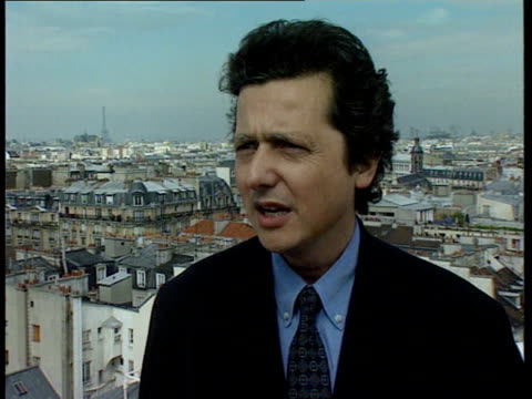 election result election result itn day pierre hasky intvwd the single european currency is still on course neely i/c french mp's nameplates being... - french national assembly stock-videos und b-roll-filmmaterial