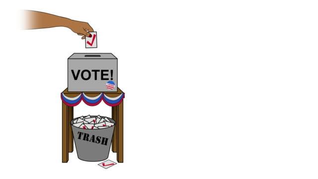 vídeos y material grabado en eventos de stock de usa election rigging animation on white off center - fraude