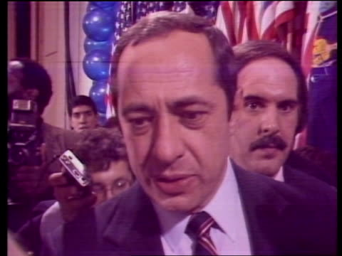 """the '84 vote:; usa: int alastair burnet studio to camera sot new york: cms mario cuomo sof """"a lot of our -- in 86"""" usa: alastair burnet studio to... - alastair burnet stock videos & royalty-free footage"""