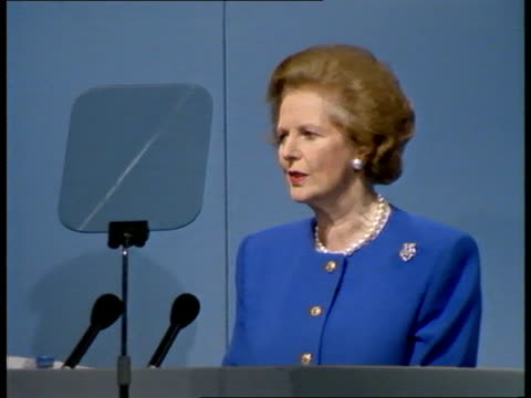 green issue b england london ls pm margaret thatcher pkf as environment sec nicholas ridley looks on cms pm margaret thatcher pkf sof we must hand on... - blackpool stock videos & royalty-free footage
