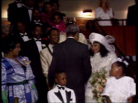 elections mandela standing down south africa/politics elections mandela standing down lib mat held bureau int president nelson mandela at wedding... - chest kissing stock videos & royalty-free footage