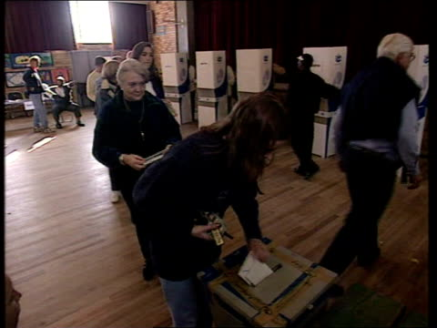 elections polling day south africa / politics elections polling day int white people in polling station voting ballot box emptied ballot papers... - ballot slip stock videos & royalty-free footage