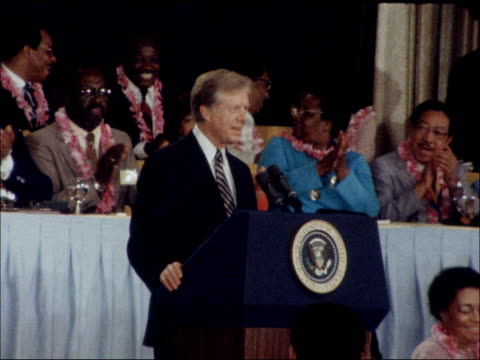 protests as jimmy carter addresses national association for the advancement of colored people usa miami jimmy carter speech at national association... - naacp stock videos & royalty-free footage