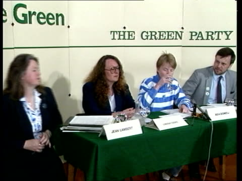 Water issue ITN ENGLAND London Victoria Cathedral Conference Centre TCMS Members of 'The Green Party' at PKF TCMS Dave Fitzpatrick PKF criticises...