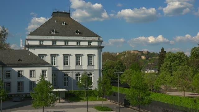 vidéos et rushes de electoral palace, koblenz, rhineland-palatinate, germany, europe - façade