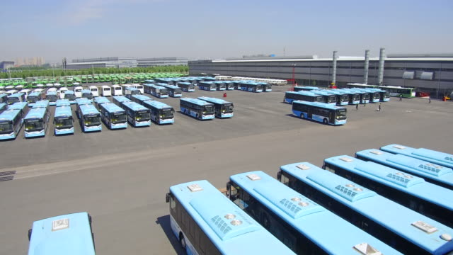 electric bus enterprises on may 24, 2017 in handan, china. - bus stock videos & royalty-free footage