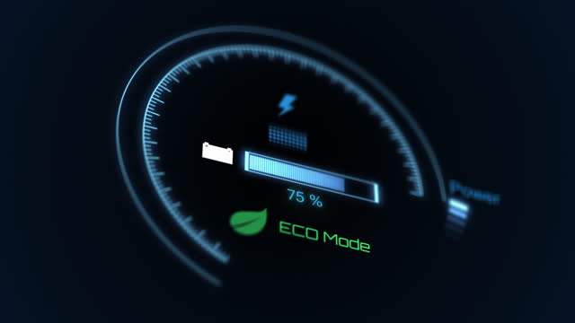 electric car charging indicator, car dashboard charging progress, green energy concept - gauge stock videos & royalty-free footage