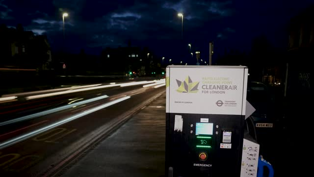electric car charging station - 'net zero' emissions on november 18, 2020 in london, england. in a 10-point environmental plan to be announced this... - video stock videos & royalty-free footage