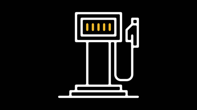 electric car charging stations line icon animation with alpha - plug socket stock videos & royalty-free footage