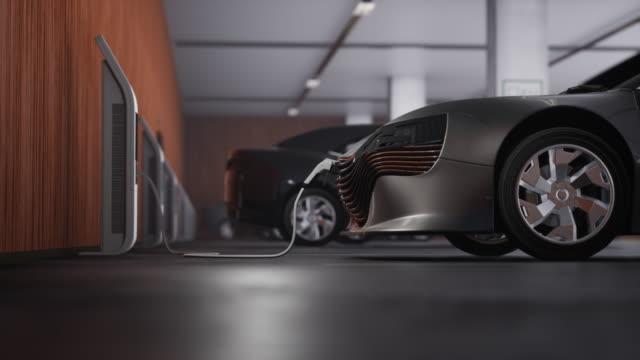 ladevon elektroautos - konzeptauto stock-videos und b-roll-filmmaterial