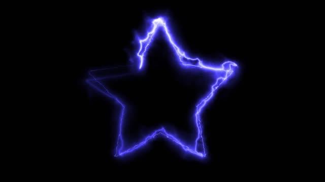 stockvideo's en b-roll-footage met elektrische energie vorm star frame 4k stock video - star shape