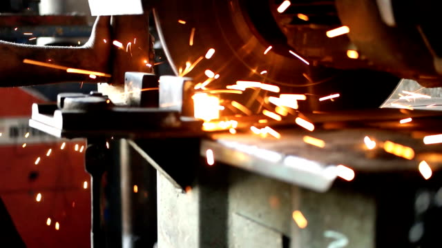 electric grinder - metal worker stock videos and b-roll footage