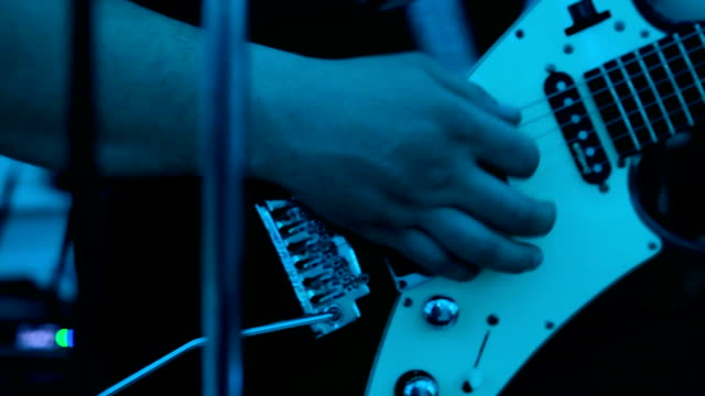 electric guitar playing close up - electric guitar stock videos & royalty-free footage