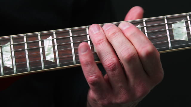 Electric Guitar Solo Close-up
