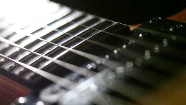 electric guitar - fretboard stock videos & royalty-free footage