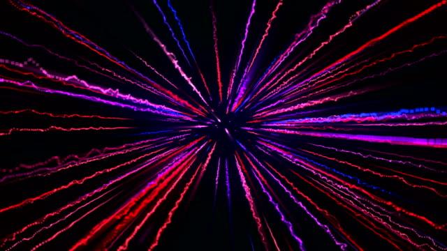 電気光抽象的な背景 4 k ループ可能な - ブロードバンド点の映像素材/bロール
