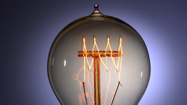 electric light bulb filament - electric lamp stock videos & royalty-free footage