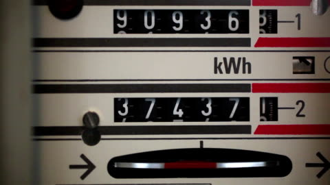 electric meter - clock face stock videos & royalty-free footage