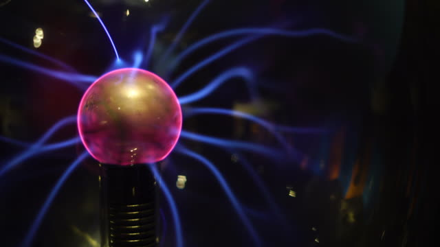 electric plasma sphere with lights - tesla coil stock videos & royalty-free footage