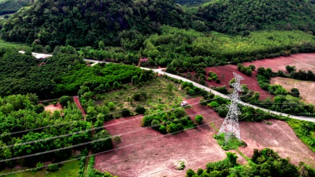 electric power station in the field in high mountain forest - cable tv stock videos and b-roll footage