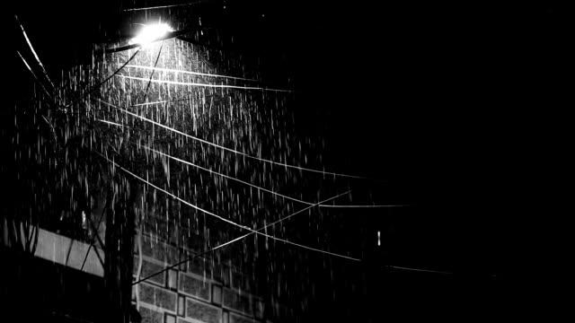 vídeos de stock, filmes e b-roll de pilão elétrico e chuva pesada - water form