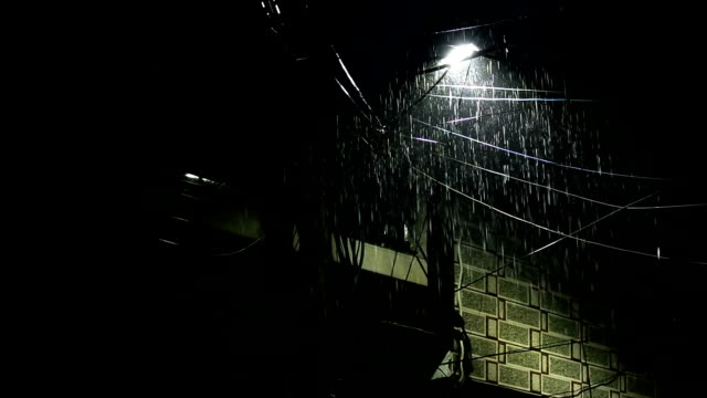 electric pylon and rain - water form stock videos and b-roll footage