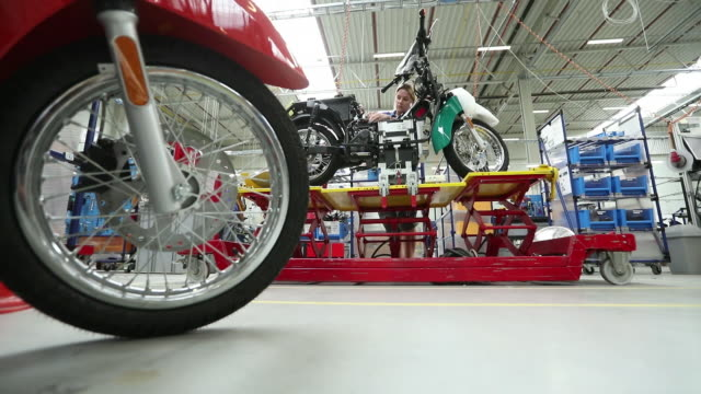 SCHWALBE electric scooter assembly in the Germany Govecs AG's plant in Wroclaw Poland on Tuesday June 18 2019