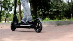 Electric scooter.