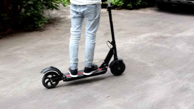 electric scooter. - motor scooter stock videos & royalty-free footage