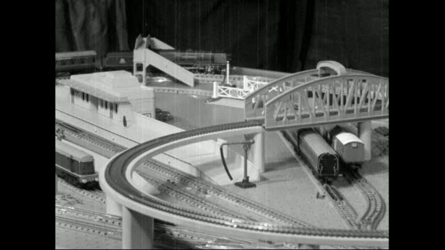 electric train sets with trains at brighton toy fair; 1959 - 1959 stock videos & royalty-free footage