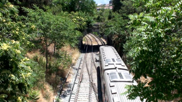 electric train (thisio, athens) - lycabettus hill stock videos & royalty-free footage