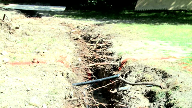 electrical digging for new power line - power cable stock videos & royalty-free footage