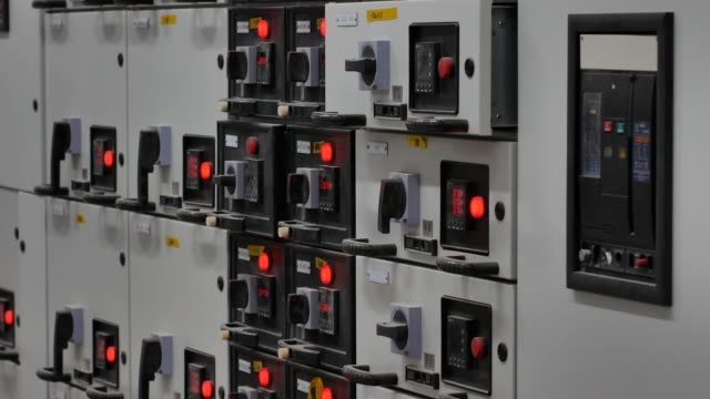 electrical installation in distribution room - equipment stock videos & royalty-free footage
