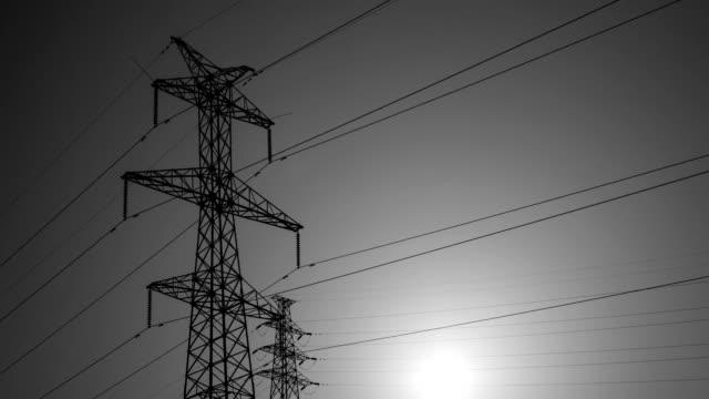 電気のパイロン翻訳 4 k uhd - 地形点の映像素材/bロール
